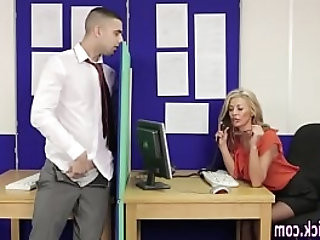 Classy brits stroke cock