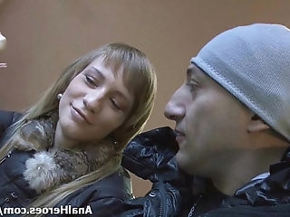 Naive Russian model gets seduced on the street and brutally ass fucked