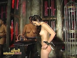 Voluptuous black chick loves spanking her white girlfriend hard