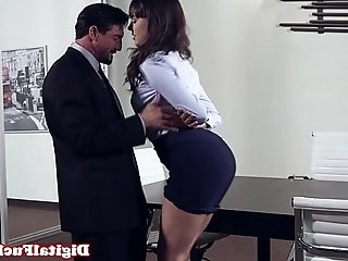 Office milf gets pounded on top of desk