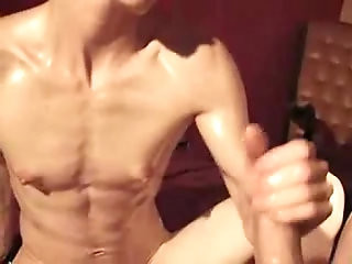 Anorexic Girl Oiled and Fucked