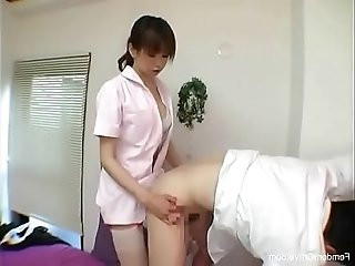 Cute japanese mistress using her strapon
