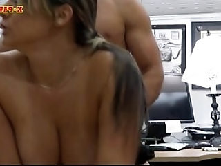 Big tits police officer gets her twat nailed by pawn keeper