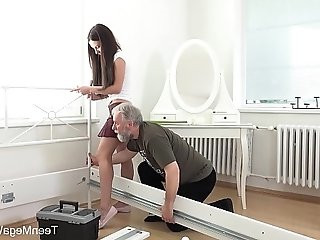 Lana Ray Sweetie takes old cumload on tits