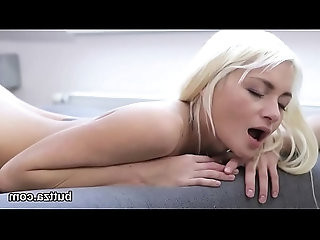 Stunning tight cutie gets her juicy cunt and tiny ass hole pounded