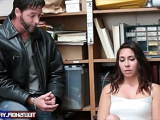 Teen Geneva King has to fuck in front of cucked daddy