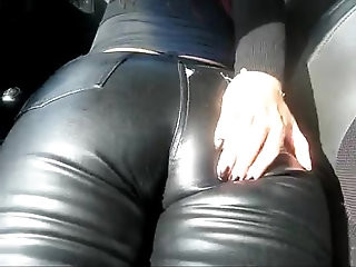 LEATHER PANTS IN THE CAR