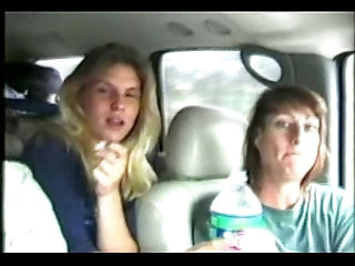 Sisters fucking on camera for a ride to Mardi Gras