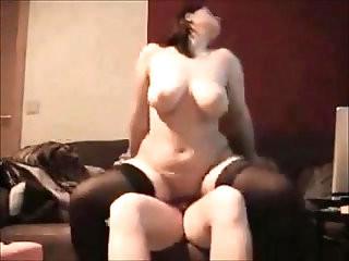 Curvy wife ass fucked on homemade