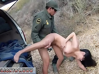 Naked car police Busty Latin floozie Alejandra Leon willingly makes