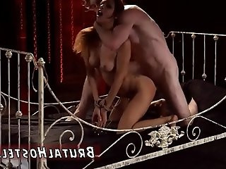 Bdsm pussy pain starts drilling her little slit in his decrepit bed.