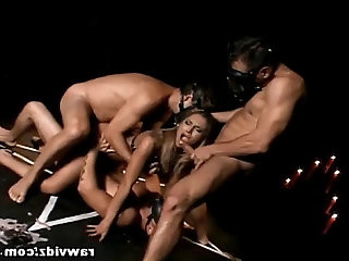 Sex Slave Gets Hardcore DP Gangbang
