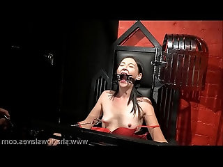 Amateur bdsm and brutal whipping of tied private slave girl Lolani in tit tortur
