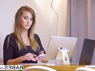 Babes Office Obsession Honey, Im Home starring Clea Gaultier and Naomi Bennet clip