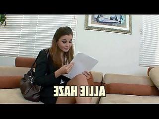 Office slut Allie Haze bangs the boss