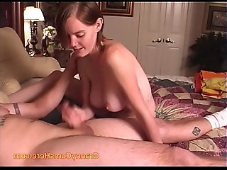 Baby Sitter gives a Hand Job