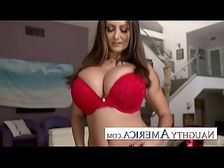 Naughty America Ava Addams comes home with new Lingerie