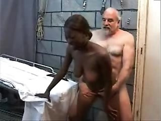 Old Perverted Grandpa Fucks Black haired Teen horny Girl