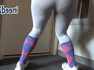 Ami female pee desperation wetting her panties pants