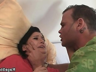 He makes her ride his cock in hard