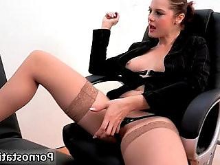 Horny secretary with nice