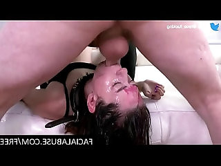 Nasty slut gets extreme Facial Abuse